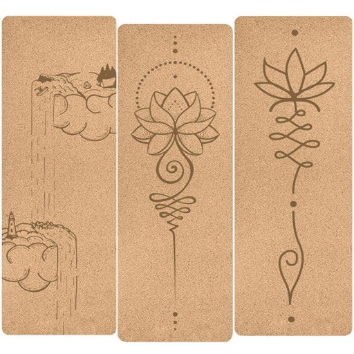 Engraved Ultramodern Natural Cork Yoga Mat - Yoga Outlet Shop™
