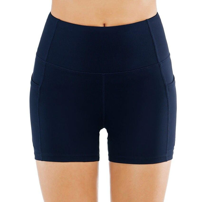 High Waist Athletic Yoga Shorts For Women with Side Pocket - Yoga Outlet Shop™