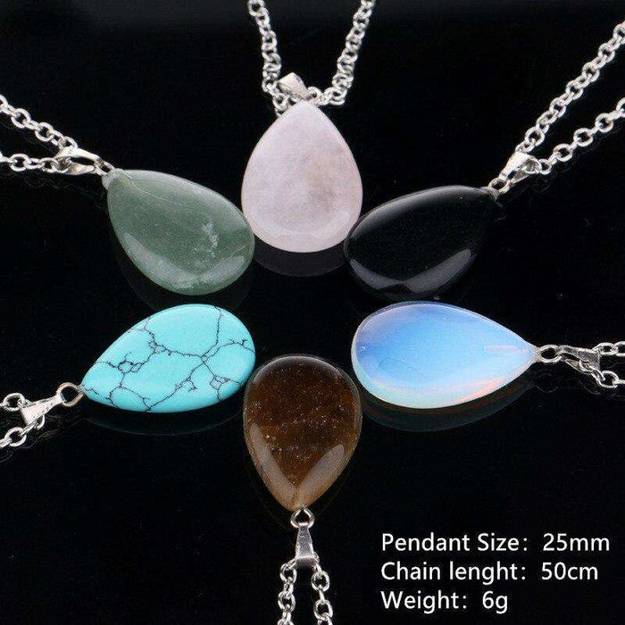 Natural Opal Stone Handmade Pendants with Tree of Life Design - Yoga Outlet Shop®