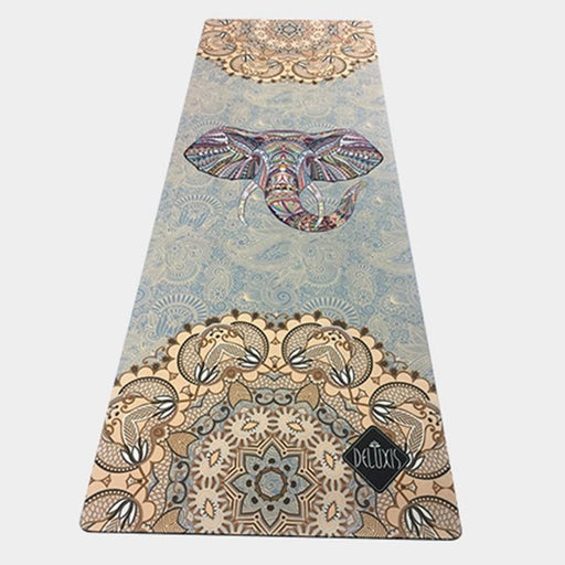 Natural Rubber Elephant Print Yoga Mat - Flow Yoga Shop™