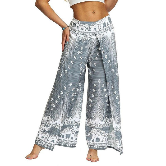Palazzo Wide Leg Pants With Slits - Flow Yoga Shop™