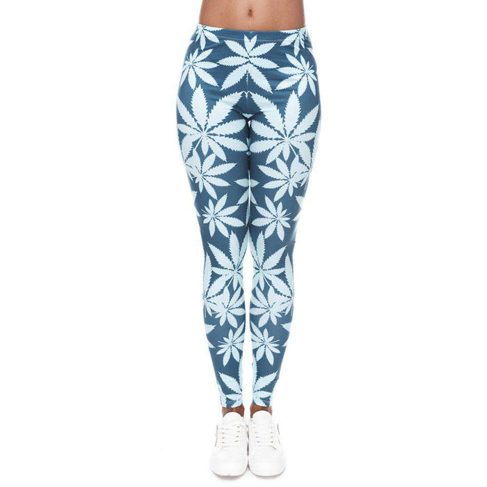 Slim Fitting High Waist Printed Yoga Leggings - Yoga Outlet Shop®