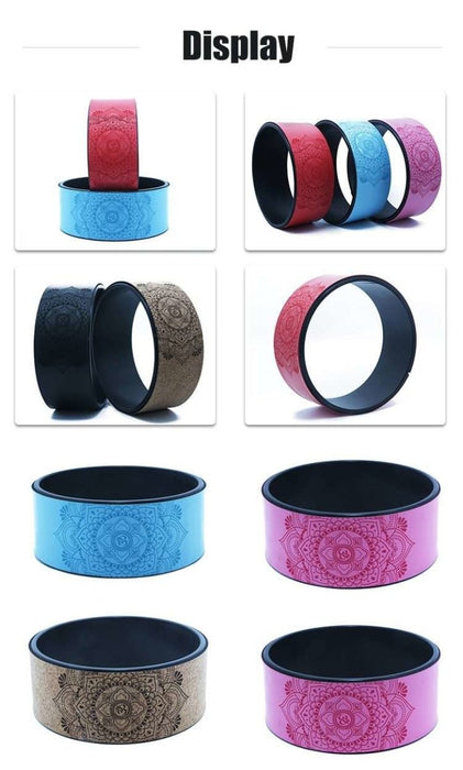 TPE Yoga Wheel with Lotus Print - Yoga Outlet Shop™