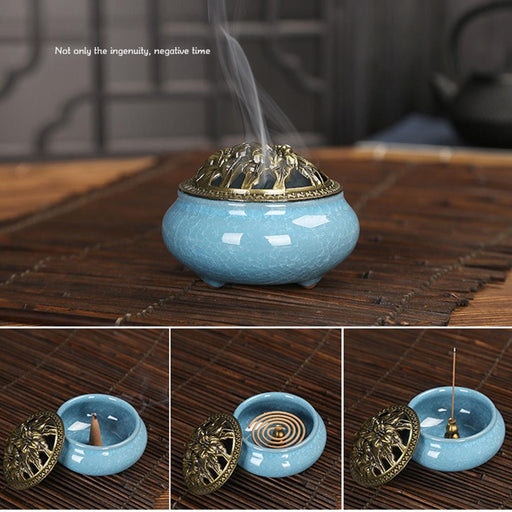 Vintage Ceramic Incense Holder for Meditation - Yoga Outlet Shop™