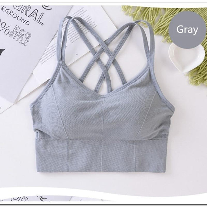 Women's Yoga Bra with Stripes - Yoga Outlet Shop™