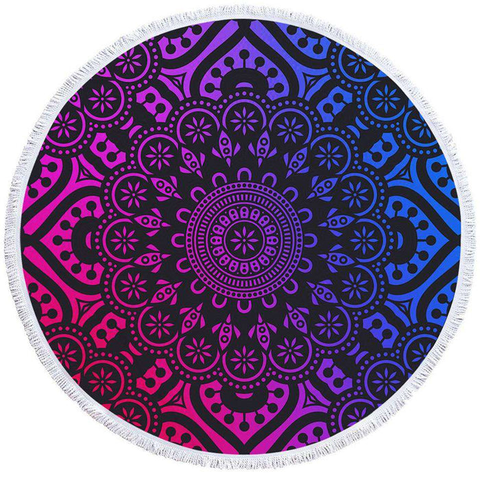 Yoga Mandala Towel with Colorful Chakra Inspired Design - Yoga Outlet Shop®