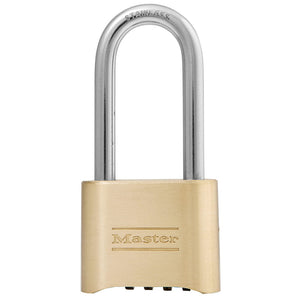 175LHSS - 2in (51mm) Wide Resettable Combination Brass Padlock with 2-1/4in (57mm) Stainless Steel Shackle