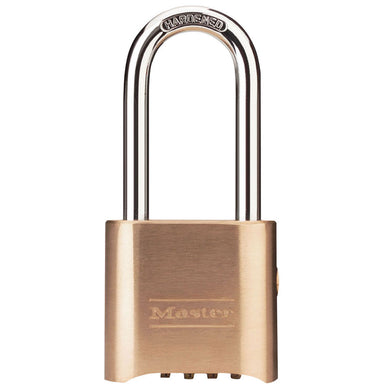 176LH - 2in (51mm) Wide Resettable Combination Brass Padlock with 2-1/4in (57mm) Shackle, Supervisory Key Override-Combination-MasterPadlocks.com (LIVE)