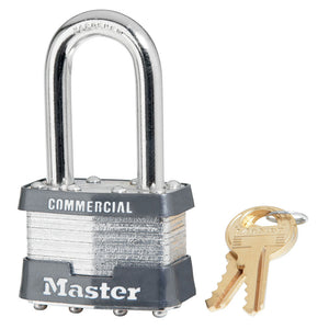 1KALF - 1-3/4in (44mm) Wide Laminated Steel Pin Tumbler Padlock with 1-1/2in (38mm) Shackle, Keyed Alike-Keyed-MasterPadlocks.com (LIVE)