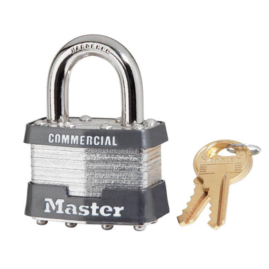 1KA - 1-3/4in (44mm) Wide Laminated Steel Pin Tumbler Padlock, Keyed Alike