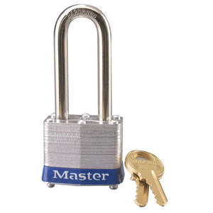 3KALHBLU - Blue Laminated Steel Safety Padlock, 1-9/16in (40mm) Wide with 2in (51mm) Tall Shackle, Keyed Alike-Keyed-MasterPadlocks.com (LIVE)