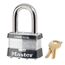 Load image into Gallery viewer, 5KALF - 2in (51mm) Wide Laminated Steel Pin Tumbler Padlock with 1-1/2in (38mm) Shackle, Keyed Alike-Keyed-MasterPadlocks.com (LIVE)