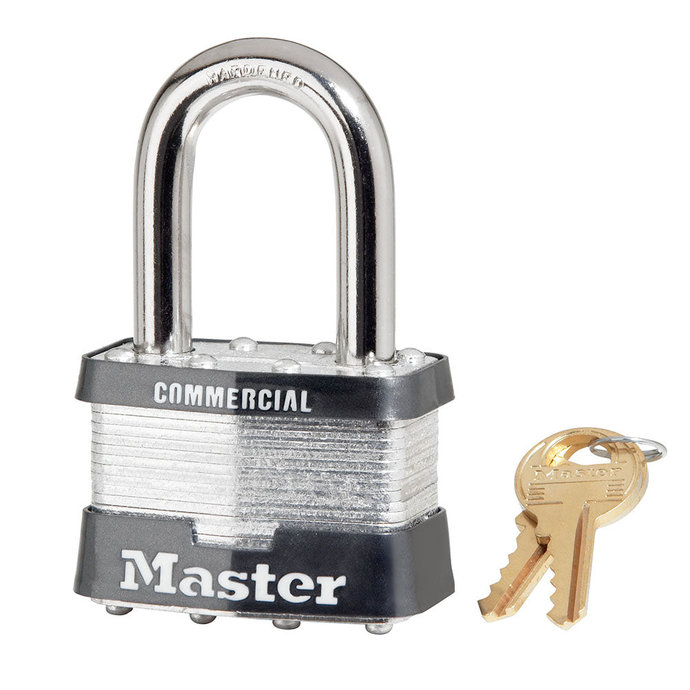 5KALF - 2in (51mm) Wide Laminated Steel Pin Tumbler Padlock with 1-1/2in (38mm) Shackle, Keyed Alike-Keyed-MasterPadlocks.com (LIVE)