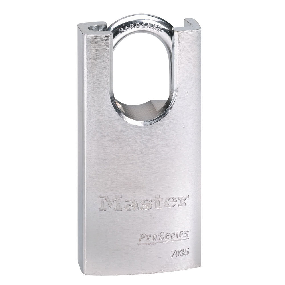7035 - 1-9/16in (40mm) Wide ProSeries® Shrouded Solid Steel Rekeyable Pin Tumbler Padlock-Keyed-MasterPadlocks.com (LIVE)