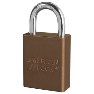 A1105KABRN - Brown Anodized Aluminum Safety Padlock, 1-1/2in (38mm) Wide with 1in (25mm) Tall Shackle, Keyed Alike-Keyed-MasterPadlocks.com (LIVE)