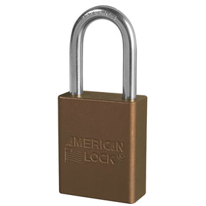 A1106KABRN - Brown Anodized Aluminum Safety Padlock, 1-1/2in (38mm) Wide with 1-1/2in (38mm) Tall Shackle, Keyed Alike-Keyed-MasterPadlocks.com (LIVE)