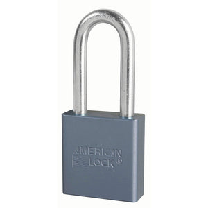 A11KA - 1-3/4in (44mm) Solid Aluminum Pin Tumbler Padlock with 2in (51mm) Shackle, Keyed Alike-Keyed-MasterPadlocks.com (LIVE)
