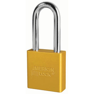 A1206YLW - 1-3/4in (44mm) Yellow Solid Aluminum Rekeyable Pin Tumbler Padlock with 2in (51mm) Shackle-Keyed-MasterPadlocks.com (LIVE)