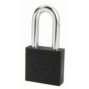 A1306BLK - 2in (51mm) Black Solid Aluminum Rekeyable Pin Tumbler Padlock with 2in (51mm) Shackle-Keyed-MasterPadlocks.com (LIVE)
