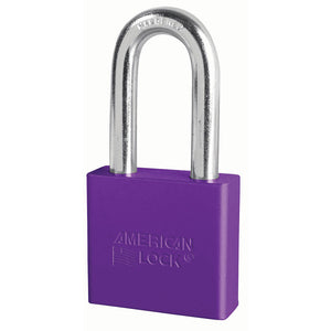 A1306PRP - 2in (51mm) Purple Solid Aluminum Rekeyable Pin Tumbler Padlock with 2in (51mm) Shackle-Keyed-MasterPadlocks.com (LIVE)