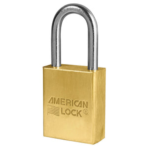 A41KA - 1-1/2in (38mm) Solid Brass Pin Tumbler Padlock with 1-1/2in (38mm) Shackle, Keyed Alike