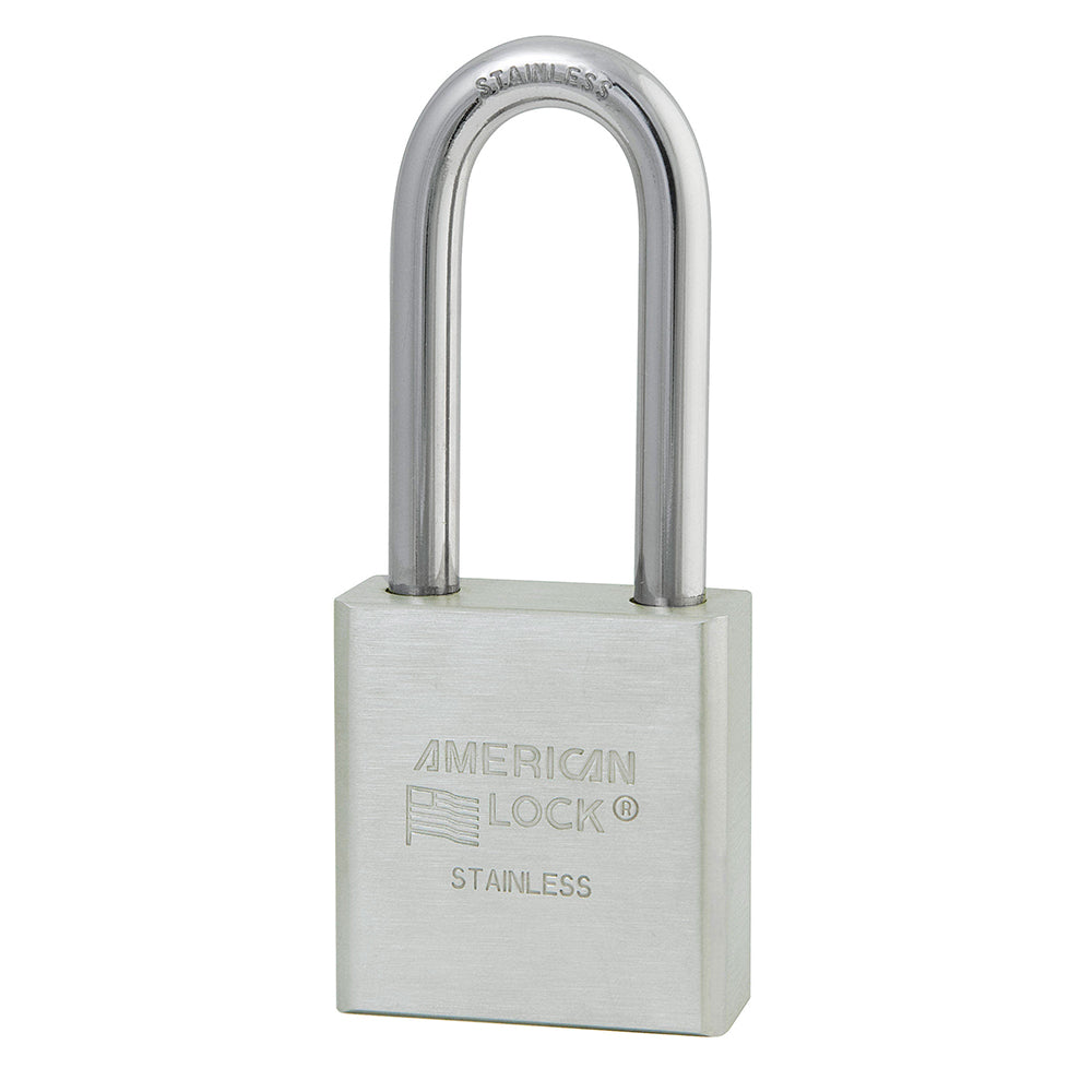 A5401 - 1-3/4in (44mm) Solid Stainless Steel Pin Tumbler Padlock with 2in (51mm) Shackle-Keyed-MasterPadlocks.com (LIVE)