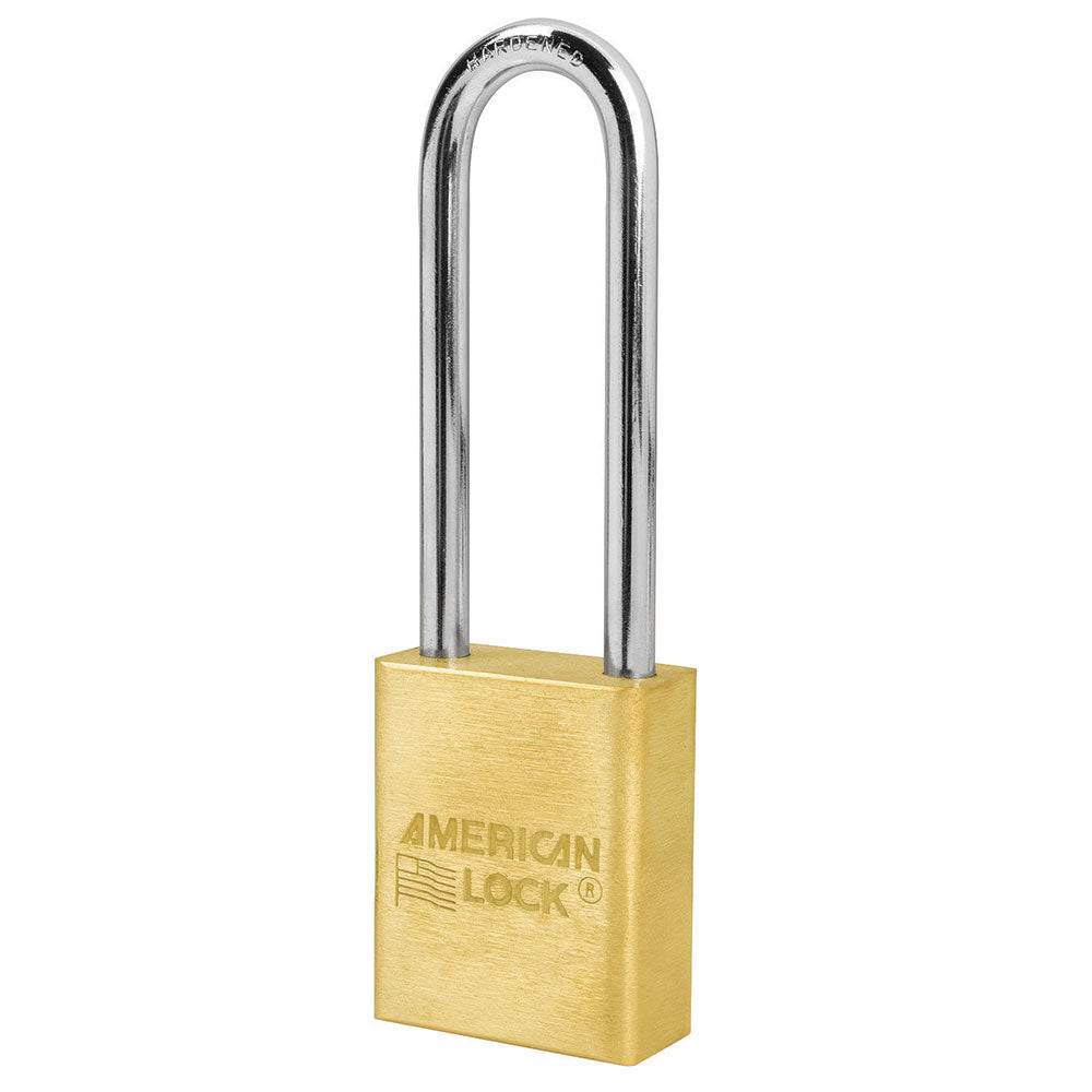 A5532KA - 1-1/2in (51mm) Solid Brass Pin Tumbler Padlock with 3in (76mm)Shackle, Keyed Alike