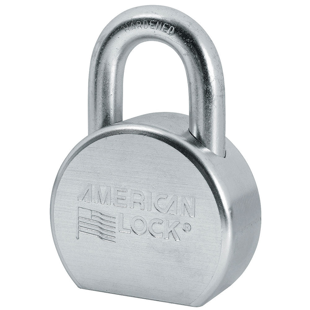 A702 - 2-1/2in (64mm) Solid Steel Rekeyable Pin Tumbler Padlock, Zinc Plated
