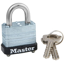 Load image into Gallery viewer, 105D - 1-1/8in (29mm) Wide Laminated Steel Warded Padlock-Keyed-MasterPadlocks.com (LIVE)