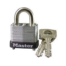 Load image into Gallery viewer, 10D - 1in (25mm) Wide Laminated Steel Warded Padlock-Keyed-MasterPadlocks.com (LIVE)