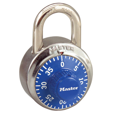 1502BLU - 1-7/8in (48mm) General Security Combination Padlock with Blue Colored Dial-Combination-MasterPadlocks.com (LIVE)