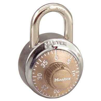 1502GLD - 1-7/8in (48mm) General Security Combination Padlock with Gold Colored Dial-Combination-MasterPadlocks.com (LIVE)