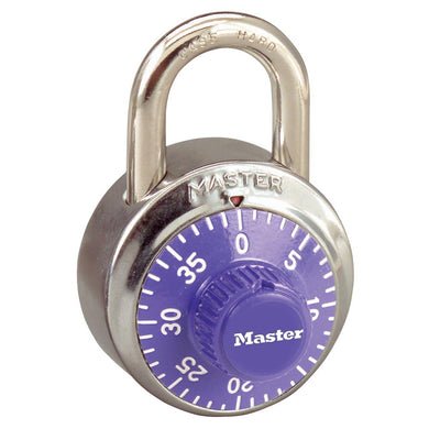 1502PRP - 1-7/8in (48mm) General Security Combination Padlock with Purple Colored Dial