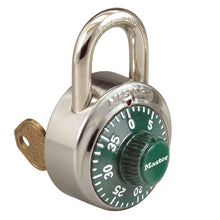 Load image into Gallery viewer, 1525GRN - 1-7/8in (48mm) General Security Combination Padlock with Key Control Feature and Green Colored Dial