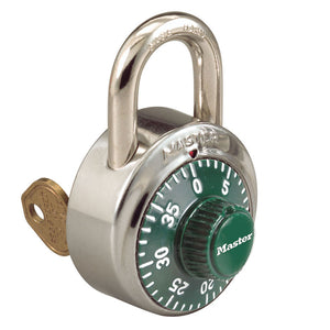 1525GRN - 1-7/8in (48mm) General Security Combination Padlock with Key Control Feature and Green Colored Dial