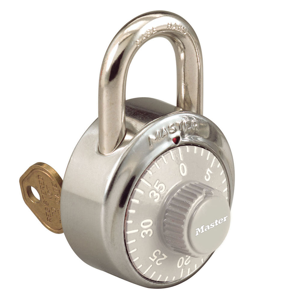 1525GRY - 1-7/8in (48mm) General Security Combination Padlock with Key Control Feature and Gray Colored Dial