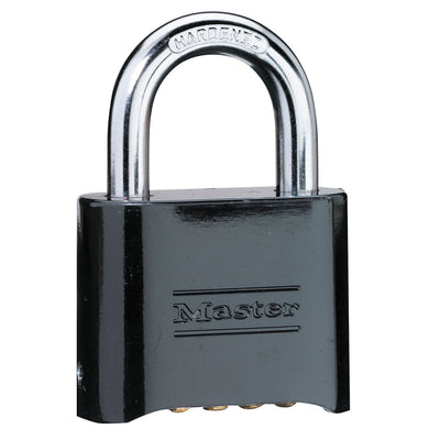 178D - 2in (51mm) Wide Set Your Own Combination Solid Body Padlock; Black