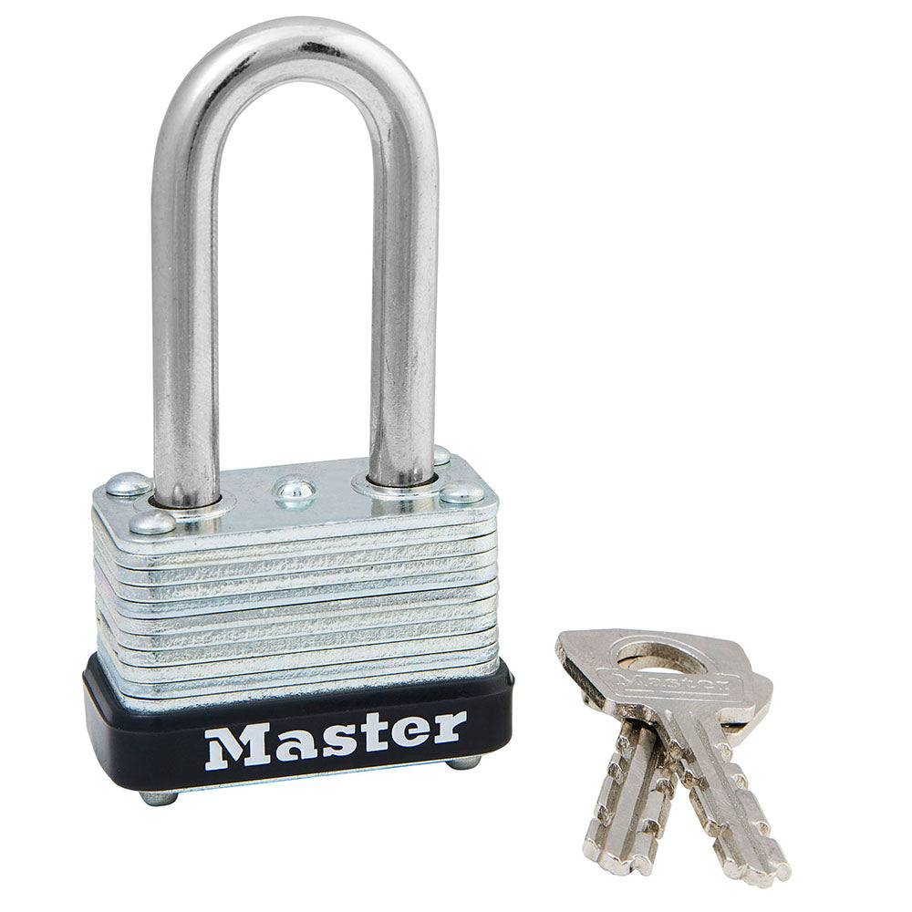 22KALF - 1-1/2in (38mm) Wide Laminated Steel Warded Padlock with 1-1/2in (38mm) Shackle, Keyed Alike