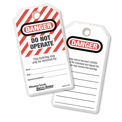 497A - Do Not Operate Safety Tag, English, Laminated