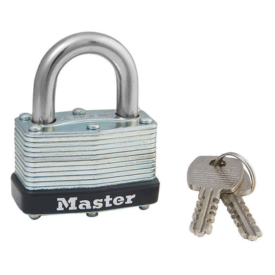 500KA - 1-3/4in (44mm) Wide Laminated Steel Warded Padllock, Keyed Alike