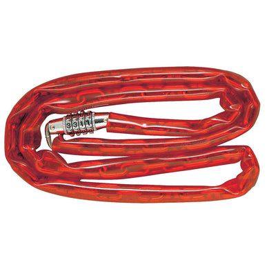 8147D - 4ft (1.2m) Long x 1/8in (3mm) Diameter Welded Steel Chain with Integrated Standard Combination Lock