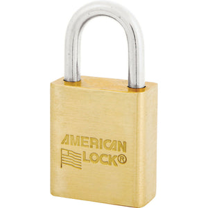 ASL40NKA - 1-1/2in (38mm) Solid Brass BumpStop® Non-Rekeyable Pin Tumbler Government Padlock, Keyed Alike-Keyed-MasterPadlocks.com (LIVE)