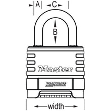 Load image into Gallery viewer, 1174 - 2-1/4in (57mm) Wide ProSeries® Stainless Steel Resettable Combination Padlock-Keyed-MasterPadlocks.com (LIVE)