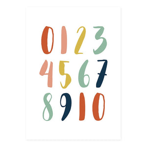 Alphabet and Numbers Multicolored