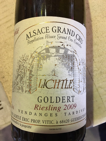 Eric Lichtlé: Riesling Grand Cru Goldert 2009 Vendanges Tardives