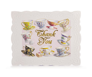 Teacups & Saucers Thank You Card Set