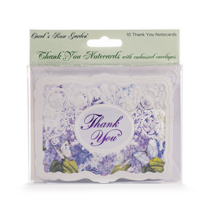 Lilacs & Butterflies Thank You Card Set