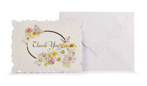 Daisies & Butterflies Thank You Card Set