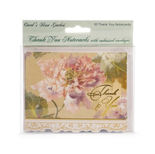 Load image into Gallery viewer, Pink Peony Thank You Card Set