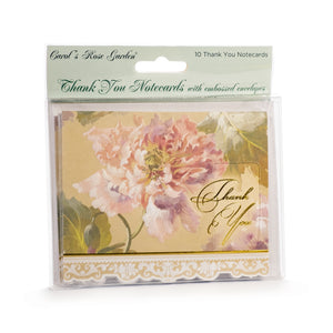 Pink Peony Thank You Card Set